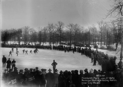 Humboldt Park Lagoon Municipal Skating Society Inner City Meet Jan 1920