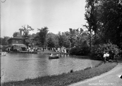 Humboldt Park Lagoon and Boat House July 4th 1917